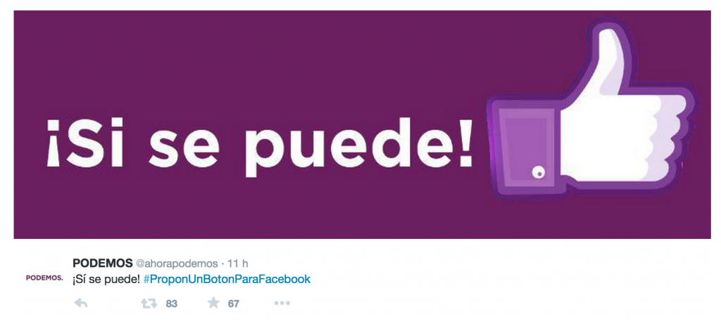 #proponunbotonparafacebook @ahorapodemos