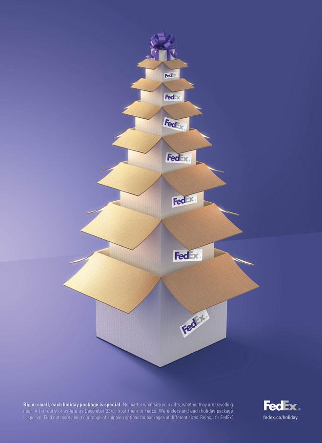 fedex diseño navidad