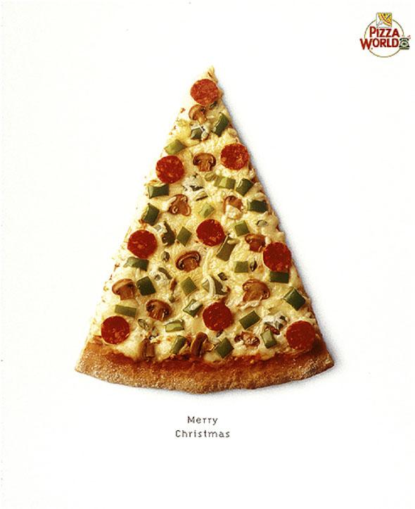 pizza word diseño creativo navidad