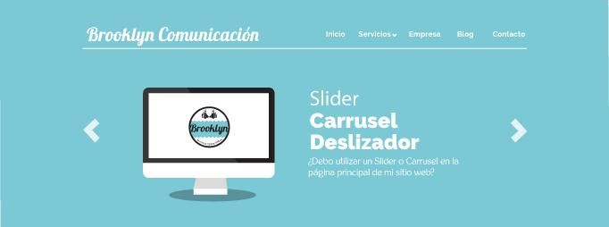 Usar slider en diseño web